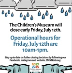 Special Operational Hours - Friday, July 12, 2019