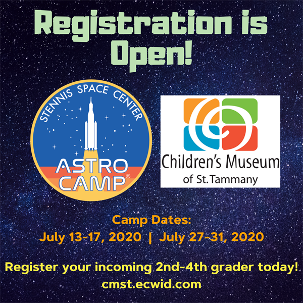 Astro Camps at the Children's Museum - July 13-17, 2020